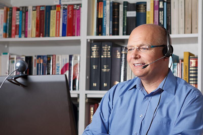 Business coaching via Skype.